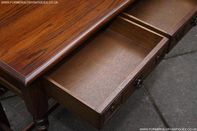 Image 19 of AN OLD CHARM LIGHT OAK LAMP PHONE HALL TABLE STAND SIDEBOARD