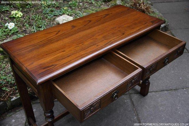 Image 20 of AN OLD CHARM LIGHT OAK LAMP PHONE HALL TABLE STAND SIDEBOARD