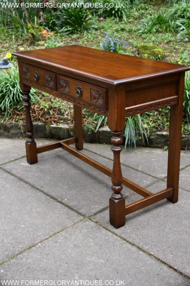 Image 21 of AN OLD CHARM LIGHT OAK LAMP PHONE HALL TABLE STAND SIDEBOARD