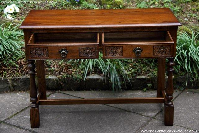 Image 24 of AN OLD CHARM LIGHT OAK LAMP PHONE HALL TABLE STAND SIDEBOARD