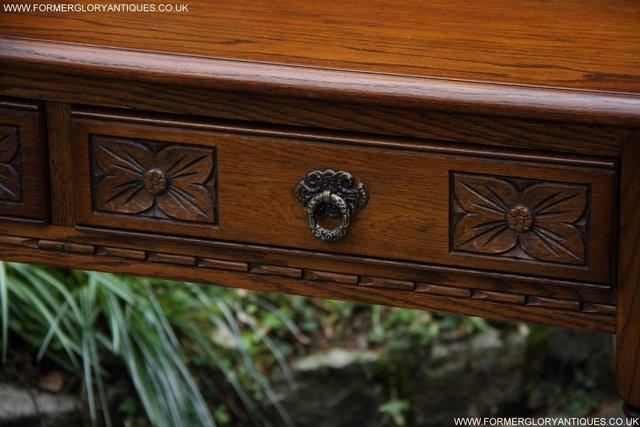 Image 25 of AN OLD CHARM LIGHT OAK LAMP PHONE HALL TABLE STAND SIDEBOARD