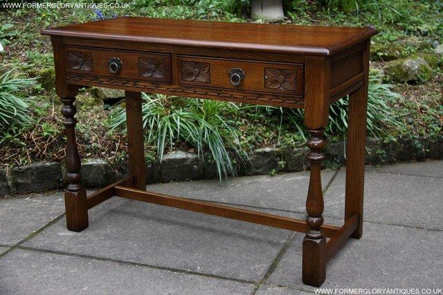 Image 28 of AN OLD CHARM LIGHT OAK LAMP PHONE HALL TABLE STAND SIDEBOARD
