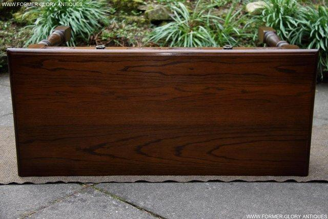 Image 29 of AN OLD CHARM LIGHT OAK LAMP PHONE HALL TABLE STAND SIDEBOARD