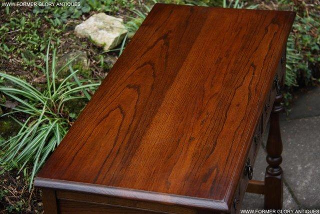 Image 30 of AN OLD CHARM LIGHT OAK LAMP PHONE HALL TABLE STAND SIDEBOARD