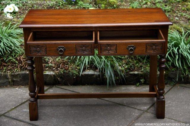 Image 31 of AN OLD CHARM LIGHT OAK LAMP PHONE HALL TABLE STAND SIDEBOARD