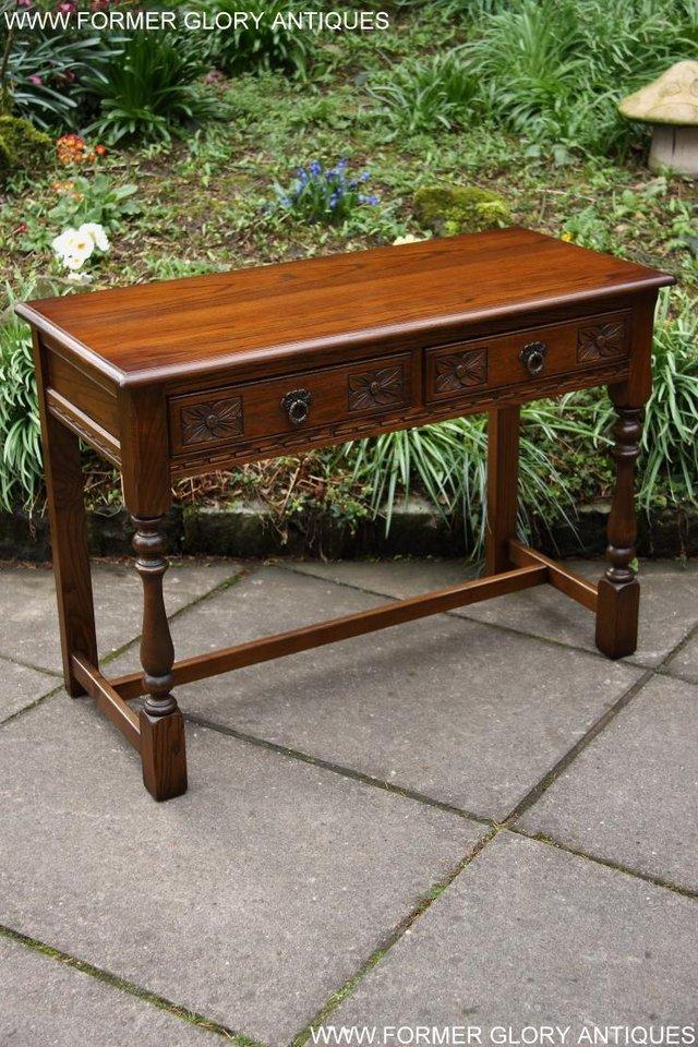 Image 32 of AN OLD CHARM LIGHT OAK LAMP PHONE HALL TABLE STAND SIDEBOARD