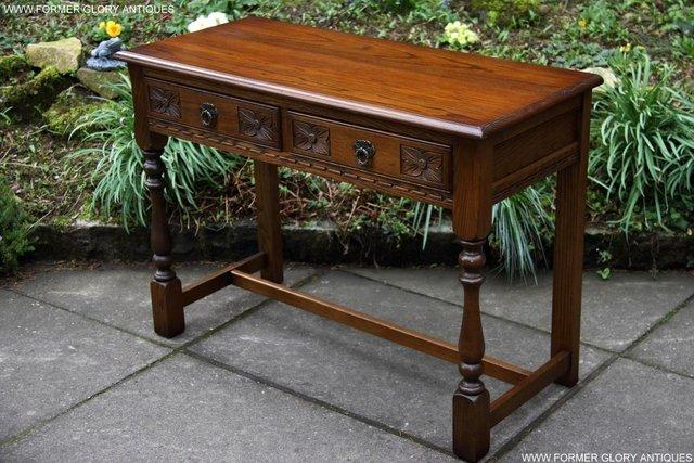 Image 34 of AN OLD CHARM LIGHT OAK LAMP PHONE HALL TABLE STAND SIDEBOARD