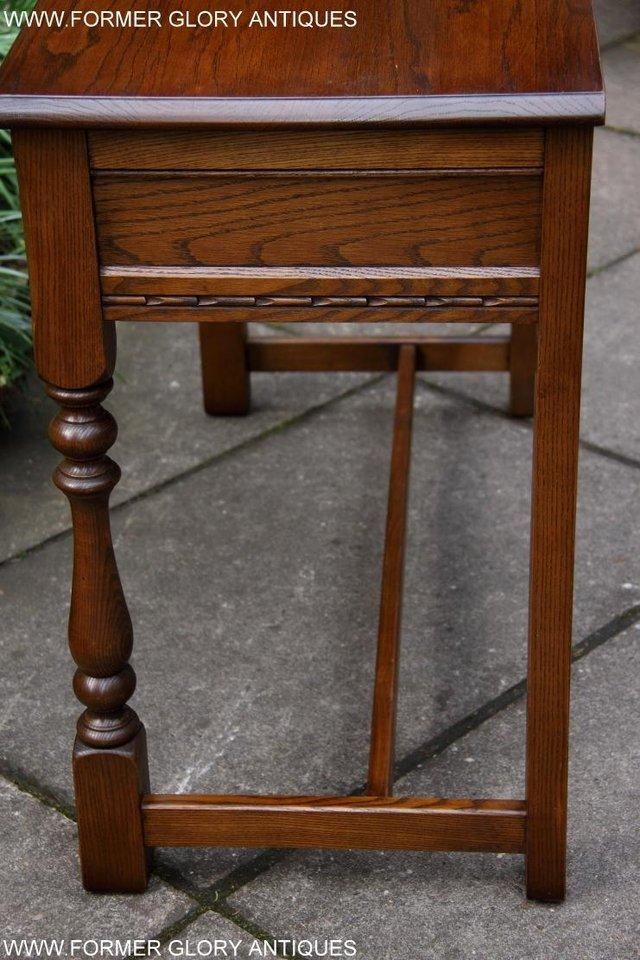 Image 36 of AN OLD CHARM LIGHT OAK LAMP PHONE HALL TABLE STAND SIDEBOARD