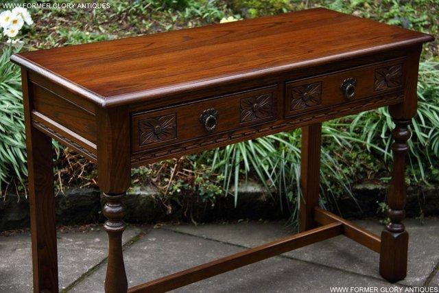 Image 37 of AN OLD CHARM LIGHT OAK LAMP PHONE HALL TABLE STAND SIDEBOARD