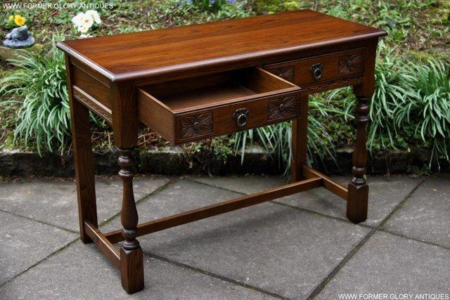 Image 38 of AN OLD CHARM LIGHT OAK LAMP PHONE HALL TABLE STAND SIDEBOARD