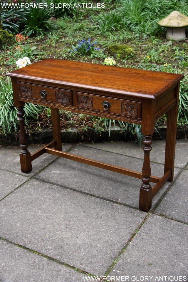 Image 46 of AN OLD CHARM LIGHT OAK LAMP PHONE HALL TABLE STAND SIDEBOARD