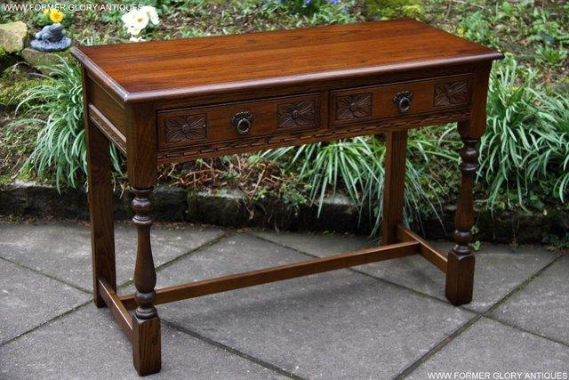 Image 47 of AN OLD CHARM LIGHT OAK LAMP PHONE HALL TABLE STAND SIDEBOARD