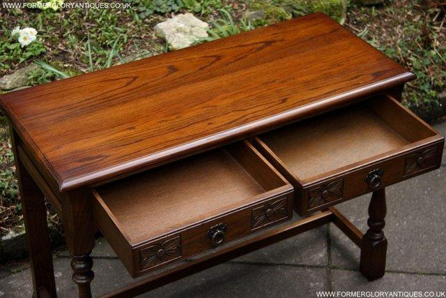 Image 48 of AN OLD CHARM LIGHT OAK LAMP PHONE HALL TABLE STAND SIDEBOARD