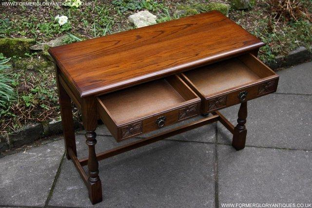 Image 50 of AN OLD CHARM LIGHT OAK LAMP PHONE HALL TABLE STAND SIDEBOARD