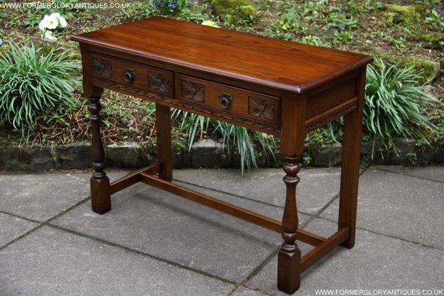 Image 51 of AN OLD CHARM LIGHT OAK LAMP PHONE HALL TABLE STAND SIDEBOARD