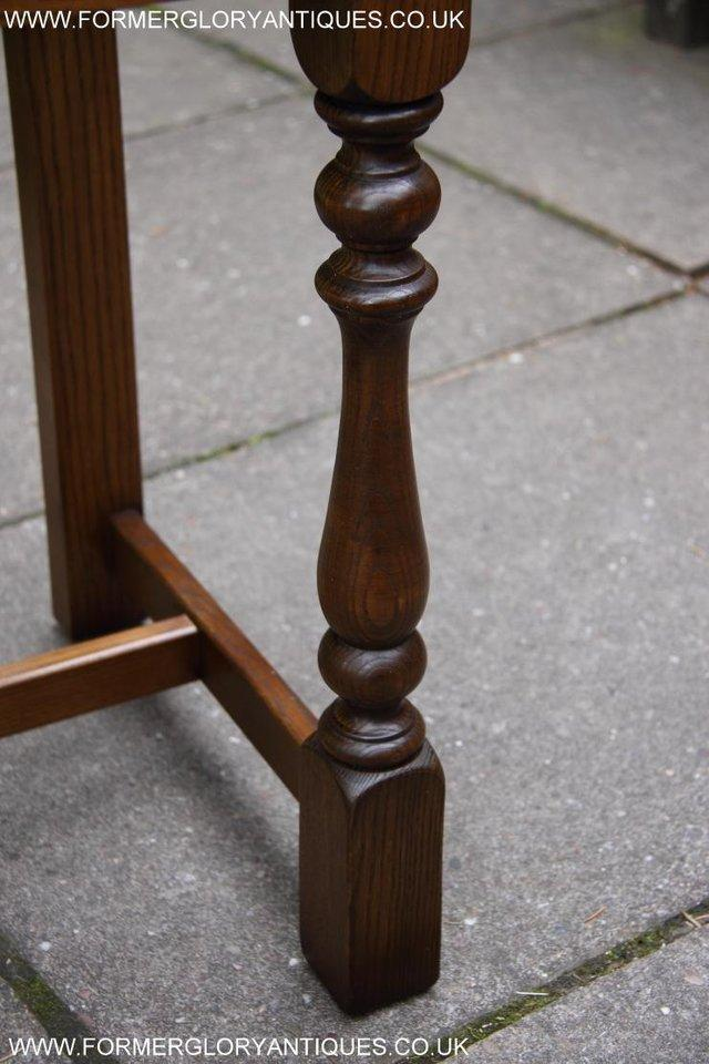 Image 57 of AN OLD CHARM LIGHT OAK LAMP PHONE HALL TABLE STAND SIDEBOARD