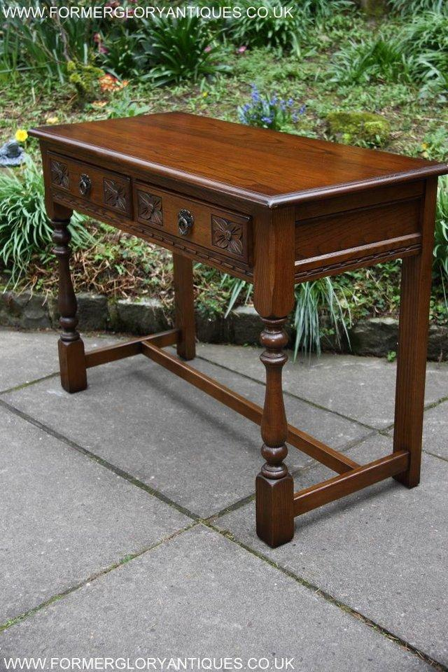 Image 58 of AN OLD CHARM LIGHT OAK LAMP PHONE HALL TABLE STAND SIDEBOARD