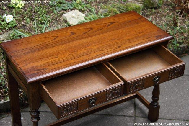 Image 60 of AN OLD CHARM LIGHT OAK LAMP PHONE HALL TABLE STAND SIDEBOARD