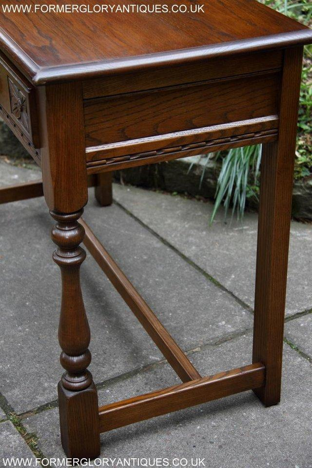 Image 61 of AN OLD CHARM LIGHT OAK LAMP PHONE HALL TABLE STAND SIDEBOARD