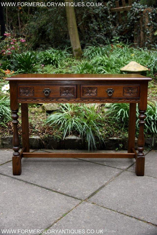 Image 62 of AN OLD CHARM LIGHT OAK LAMP PHONE HALL TABLE STAND SIDEBOARD