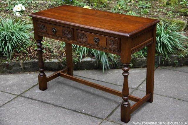 Image 63 of AN OLD CHARM LIGHT OAK LAMP PHONE HALL TABLE STAND SIDEBOARD