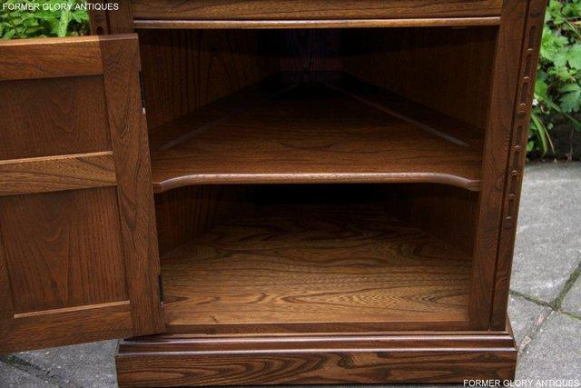 Image 5 of AN ERCOL GOLDEN DAWN CORNER DISPLAY CABINET CUPBOARD STAND