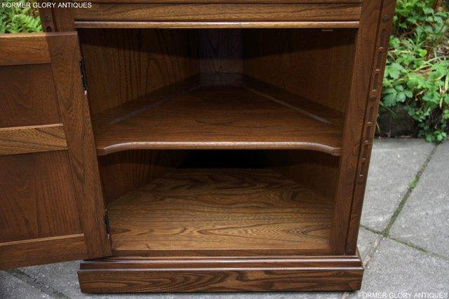 Image 9 of AN ERCOL GOLDEN DAWN CORNER DISPLAY CABINET CUPBOARD STAND