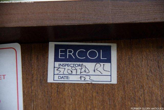 Image 11 of AN ERCOL GOLDEN DAWN CORNER DISPLAY CABINET CUPBOARD STAND