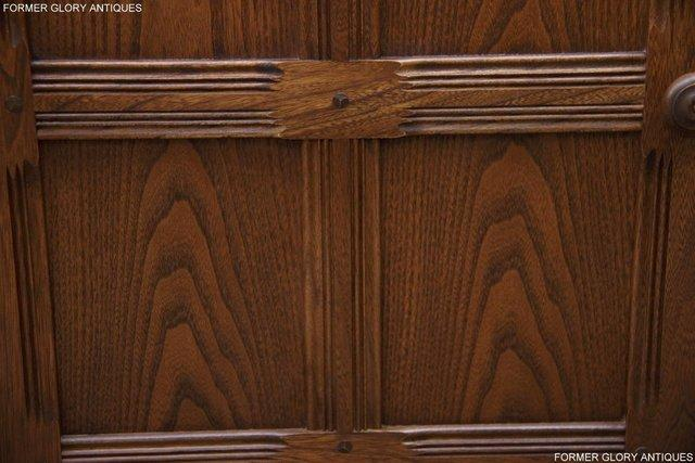 Image 14 of AN ERCOL GOLDEN DAWN CORNER DISPLAY CABINET CUPBOARD STAND