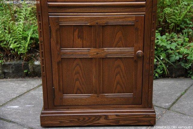 Image 17 of AN ERCOL GOLDEN DAWN CORNER DISPLAY CABINET CUPBOARD STAND