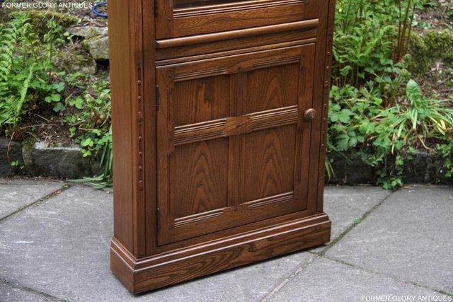 Image 25 of AN ERCOL GOLDEN DAWN CORNER DISPLAY CABINET CUPBOARD STAND