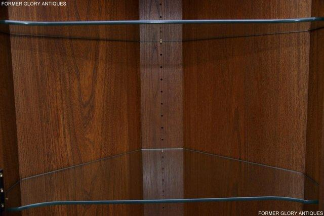 Image 26 of AN ERCOL GOLDEN DAWN CORNER DISPLAY CABINET CUPBOARD STAND