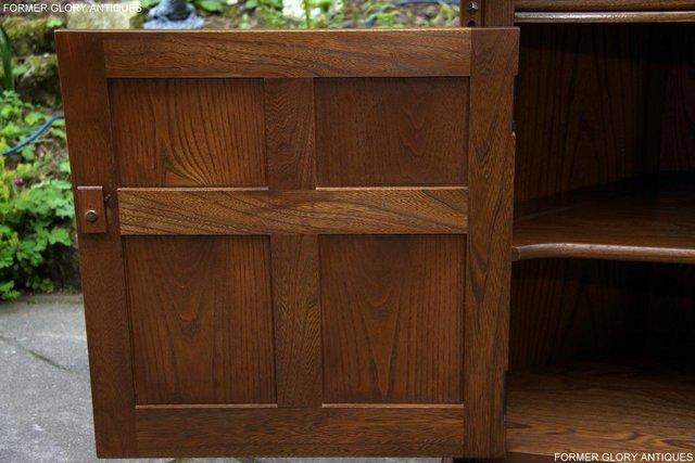 Image 27 of AN ERCOL GOLDEN DAWN CORNER DISPLAY CABINET CUPBOARD STAND