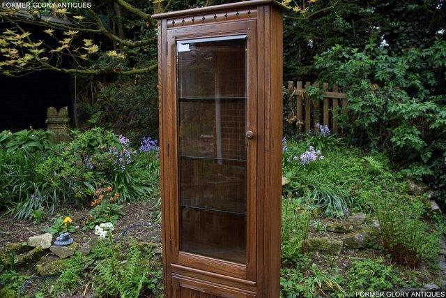 Image 34 of AN ERCOL GOLDEN DAWN CORNER DISPLAY CABINET CUPBOARD STAND