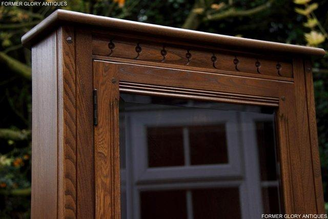 Image 36 of AN ERCOL GOLDEN DAWN CORNER DISPLAY CABINET CUPBOARD STAND