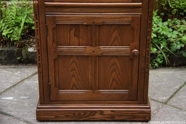 Image 53 of AN ERCOL GOLDEN DAWN CORNER DISPLAY CABINET CUPBOARD STAND