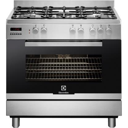 Preview of the first image of ELECTROLUX 90CM STAINLESS STEEL DUAL FUEL RANGE COOKER NEW.