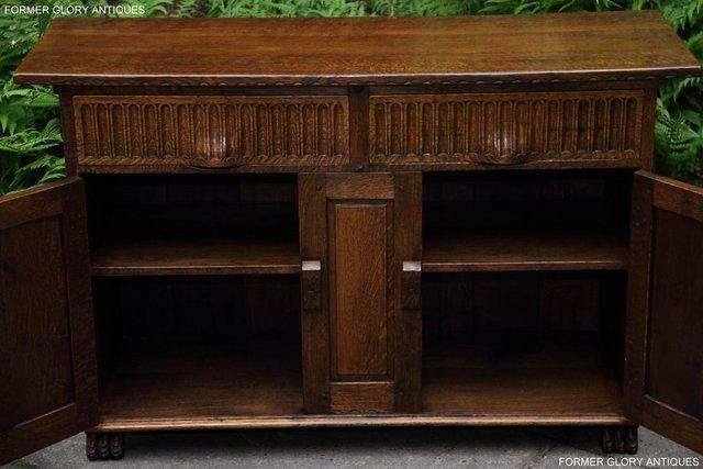 Image 15 of NIGEL RUPERT GRIFFITHS OAK DRESSER BASE SIDEBOARD HALL TABLE