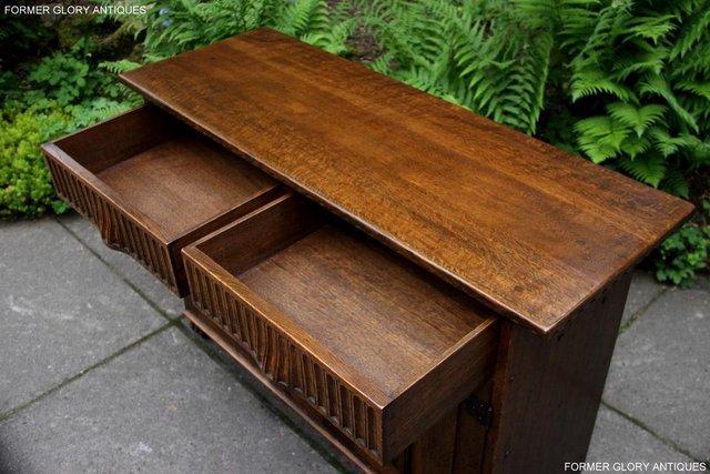 Image 17 of NIGEL RUPERT GRIFFITHS OAK DRESSER BASE SIDEBOARD HALL TABLE