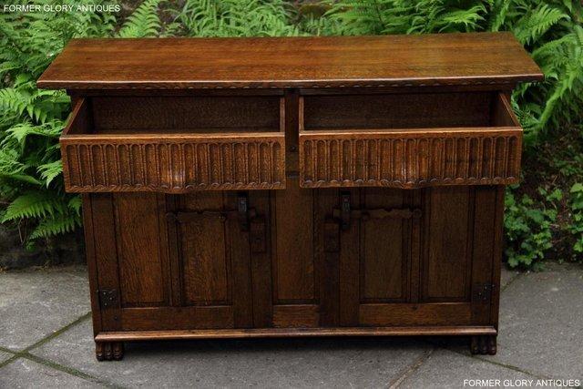 Image 25 of NIGEL RUPERT GRIFFITHS OAK DRESSER BASE SIDEBOARD HALL TABLE