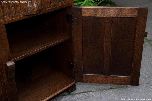Image 26 of NIGEL RUPERT GRIFFITHS OAK DRESSER BASE SIDEBOARD HALL TABLE