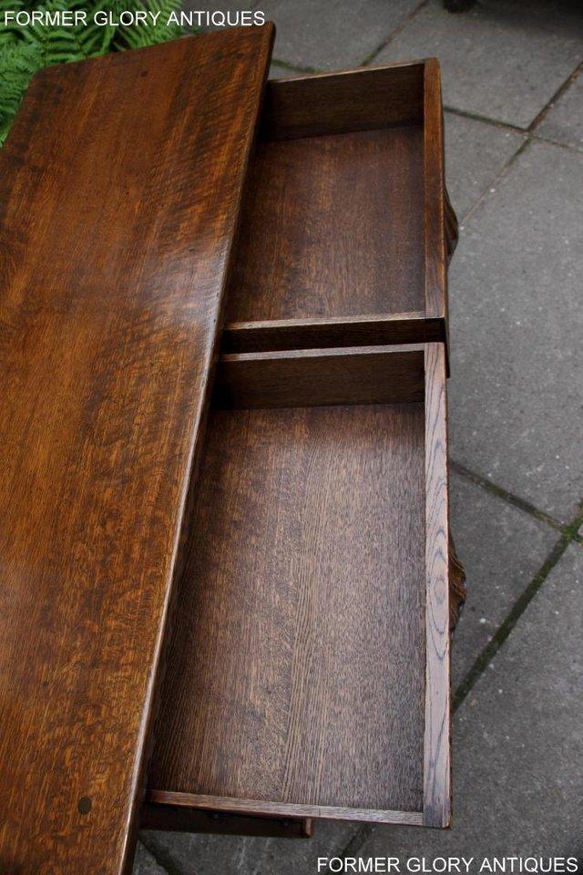 Image 28 of NIGEL RUPERT GRIFFITHS OAK DRESSER BASE SIDEBOARD HALL TABLE