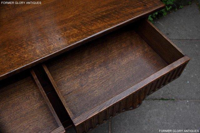 Image 35 of NIGEL RUPERT GRIFFITHS OAK DRESSER BASE SIDEBOARD HALL TABLE