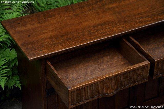 Image 40 of NIGEL RUPERT GRIFFITHS OAK DRESSER BASE SIDEBOARD HALL TABLE