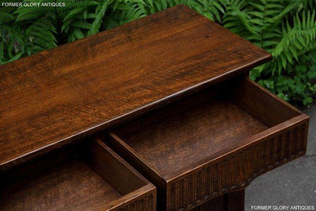 Image 47 of NIGEL RUPERT GRIFFITHS OAK DRESSER BASE SIDEBOARD HALL TABLE