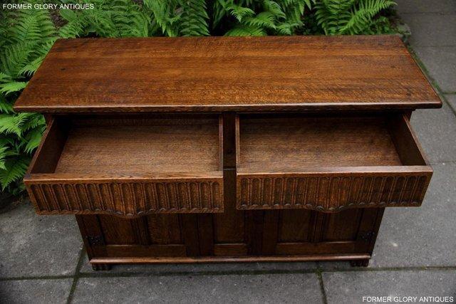 Image 50 of NIGEL RUPERT GRIFFITHS OAK DRESSER BASE SIDEBOARD HALL TABLE