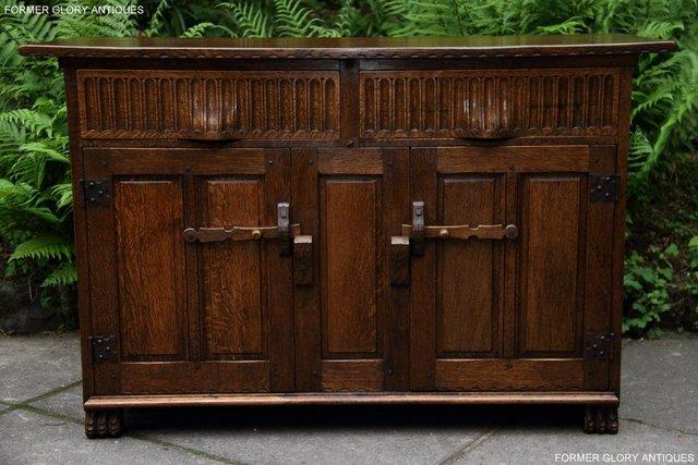 Image 51 of NIGEL RUPERT GRIFFITHS OAK DRESSER BASE SIDEBOARD HALL TABLE