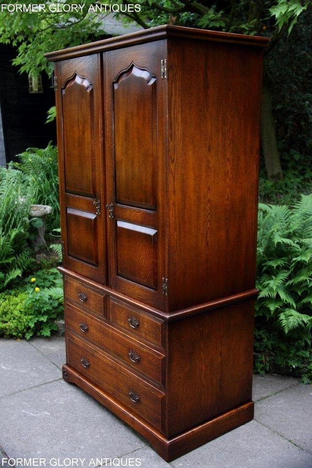 Image 6 of TITCHMARSH GOODWIN ROYAL OAK WARDROBE CHEST OF DRAWERS STAND