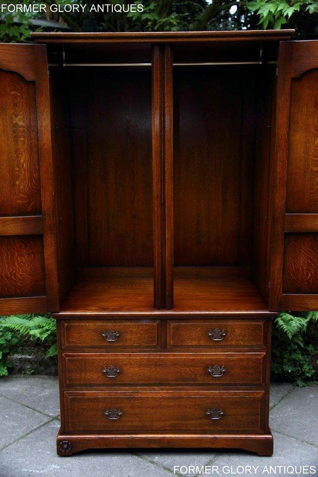 Image 17 of TITCHMARSH GOODWIN ROYAL OAK WARDROBE CHEST OF DRAWERS STAND