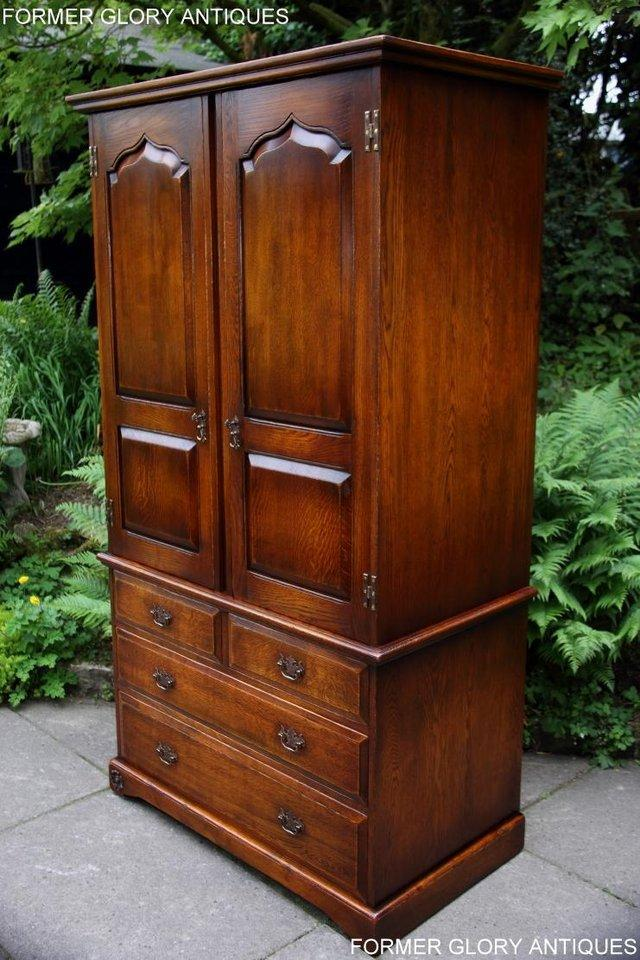 Image 19 of TITCHMARSH GOODWIN ROYAL OAK WARDROBE CHEST OF DRAWERS STAND
